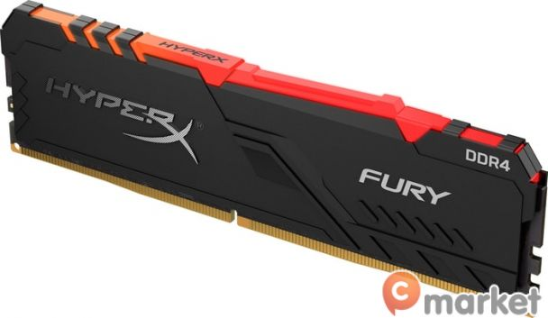Оперативная память HyperX Fury RGB 8GB DDR4 PC4-25600 HX432C16FB3A/8